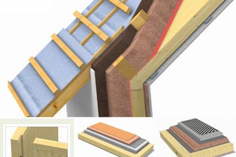 """Elementi costruttivi in legno """"Brettstapel"""""""